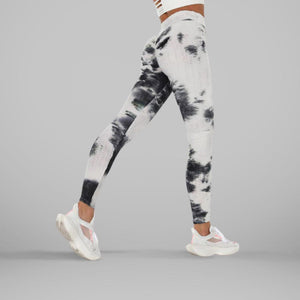 GYMKARTEL® ANTI-CELLULITE AND PUSH UP LEGGINGS - TIE-DYE BLACK