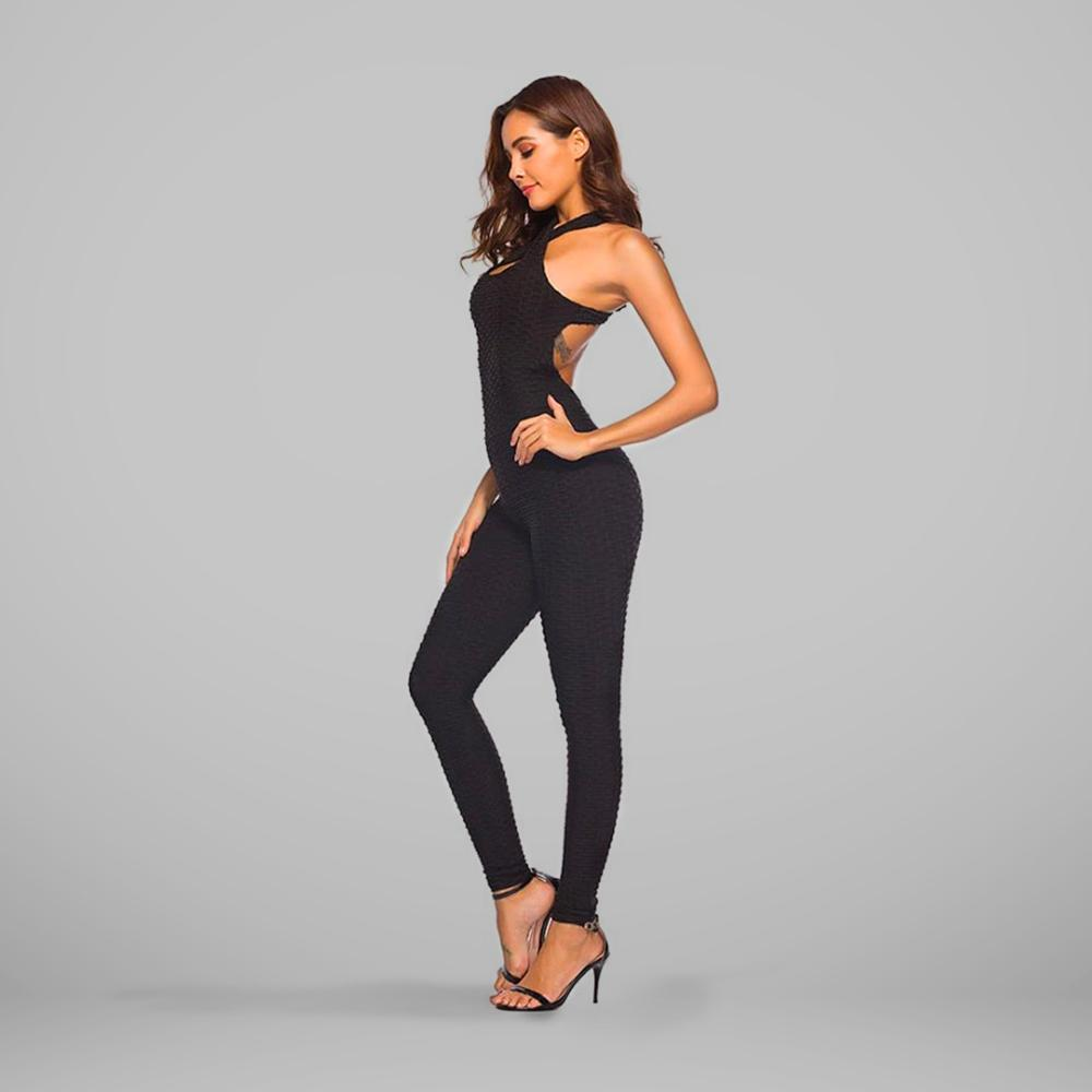 GYMKARTEL® ANTI-CELLULITE AND BOOTY LIFTING JUMPSUIT - BLACK