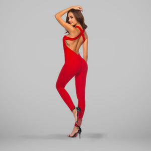 GYMKARTEL® ANTI-CELLULITE AND PUSH UP JUMPSUIT - RED