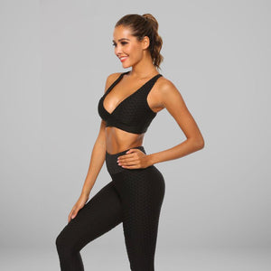 GYMKARTEL® SUPPORTIVE SPORTS BRA - BLACK