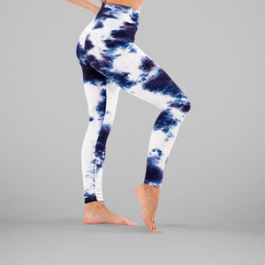 GYMKARTEL® ANTI-CELLULITE AND PUSH UP LEGGINGS - TIE-DYE BLUE