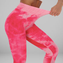 Load image into Gallery viewer, GYMKARTEL® ANTI-CELLULITE AND PUSH UP LEGGINGS - TIE-DYE PINK