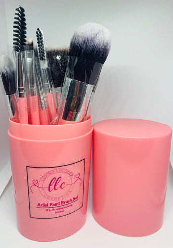 Artist Paint Brush Set-Pink - Loving Lacquer Cosmetics