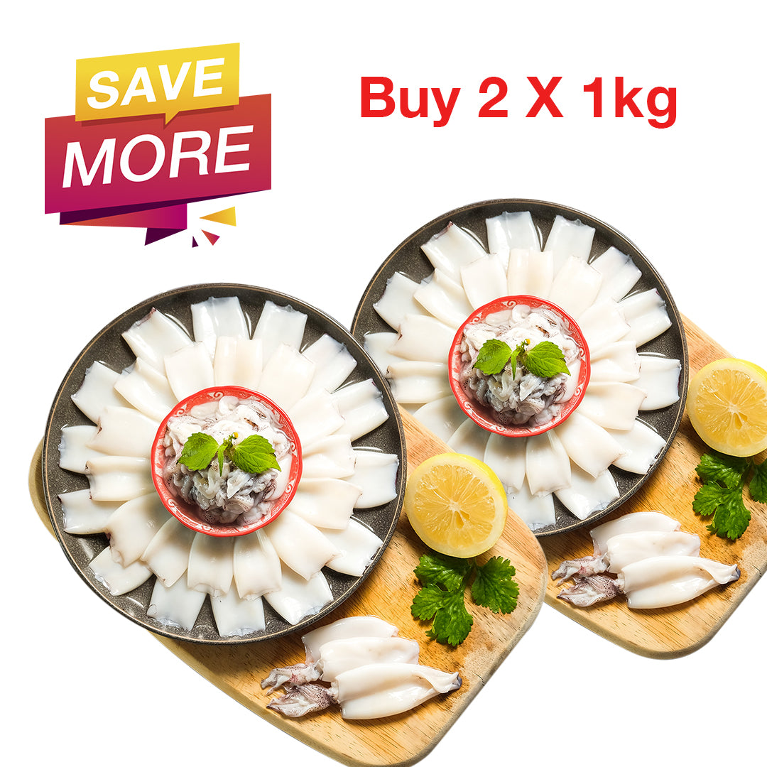 [Double Deal]  Peeled Whole Squid / 拔沙东肉