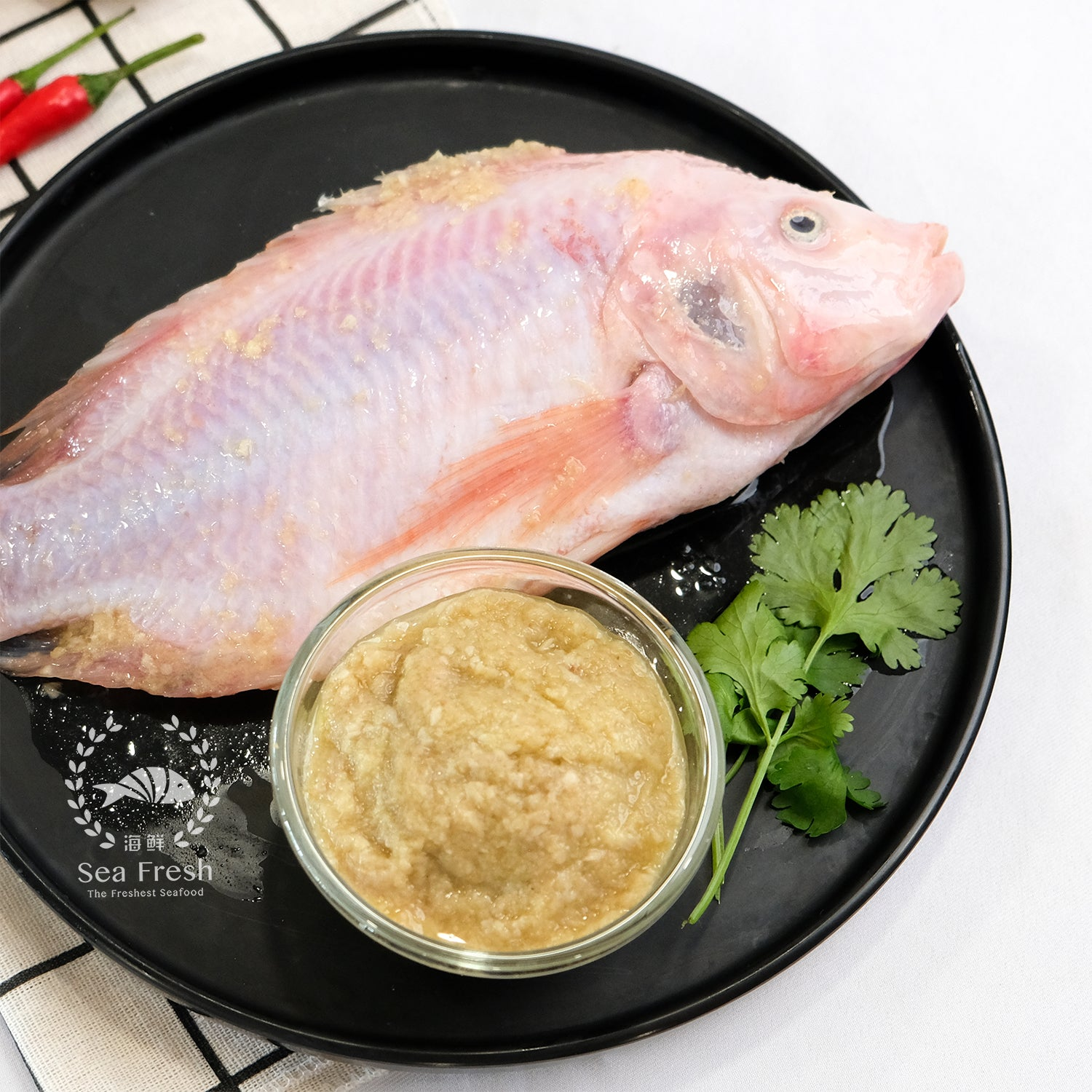 Ginger Garlic Tilapia / 蒜蓉山水非洲鱼