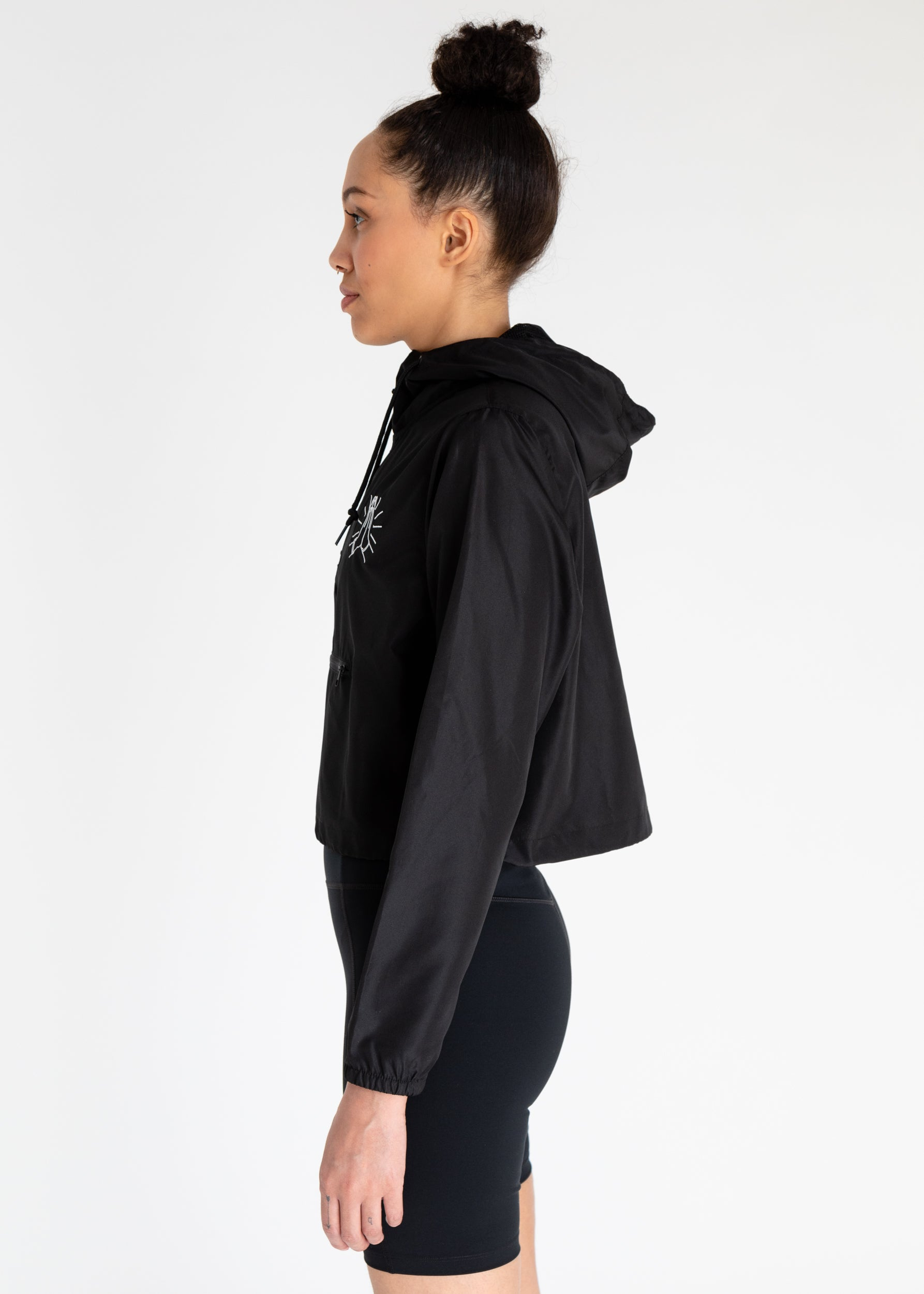 Prayer Hands Cropped Windbreaker