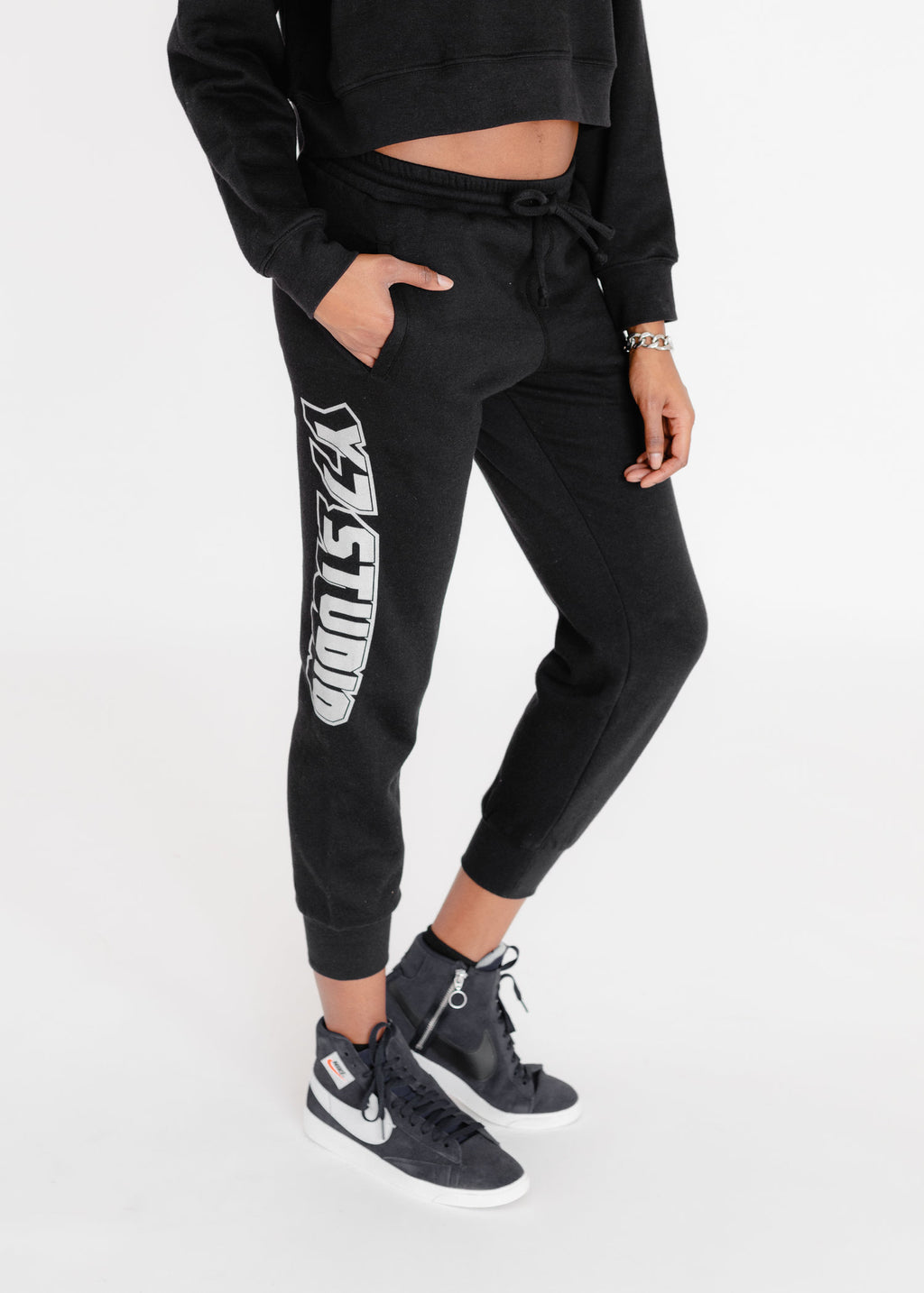 Joggers with Silver