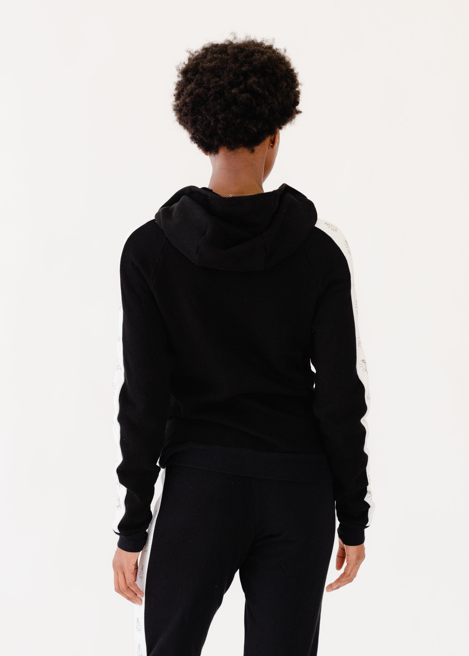 Zip Up W/ Namaste Hands Stripe