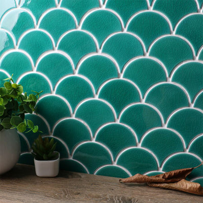 Fish Scale Mosaics green