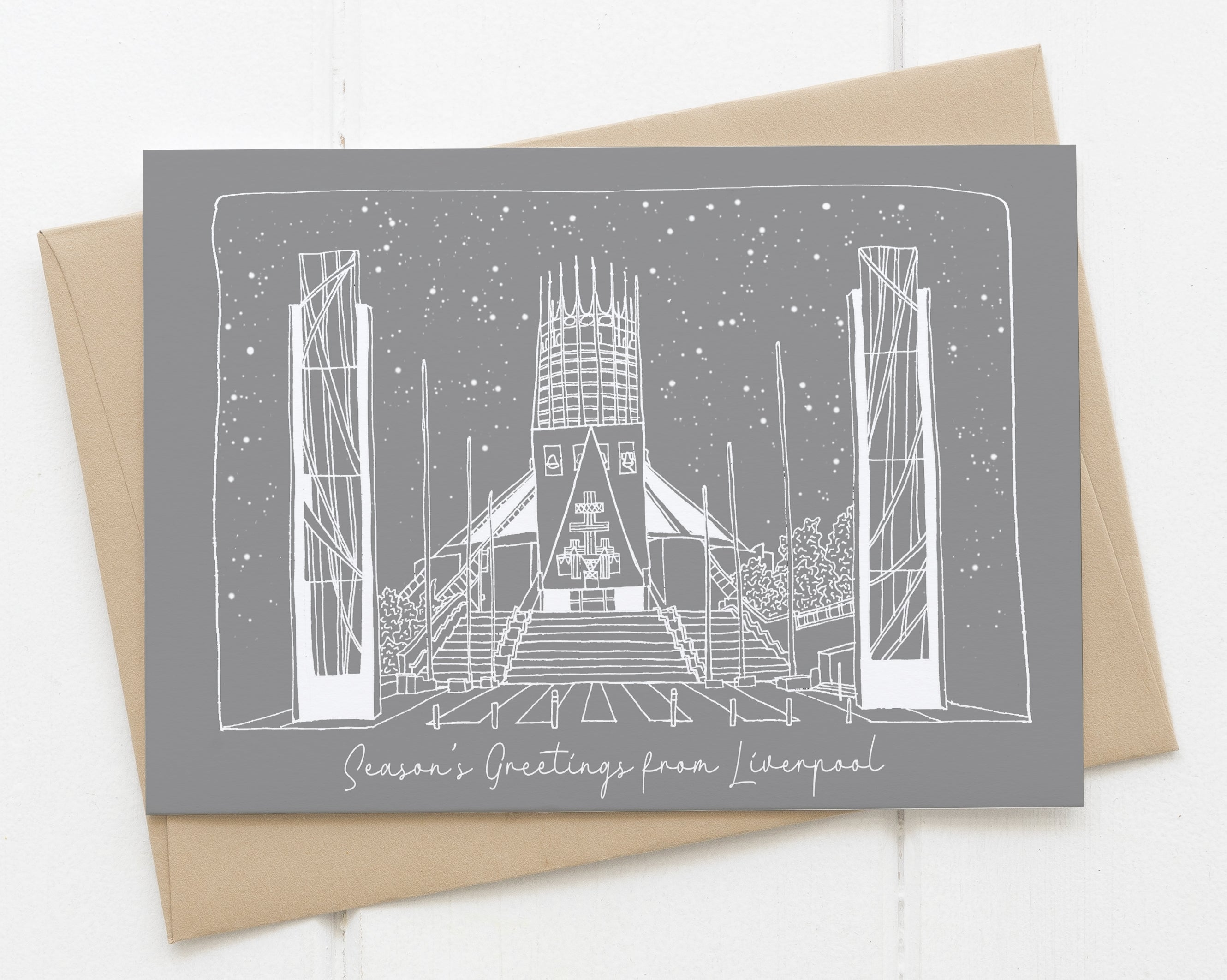 Liverpool Metropolitan Cathedral Christmas Card