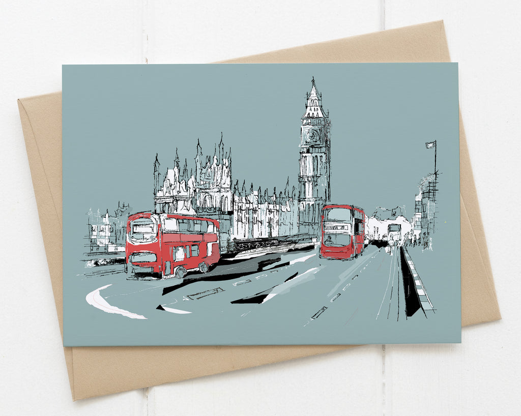 Big Ben card blue