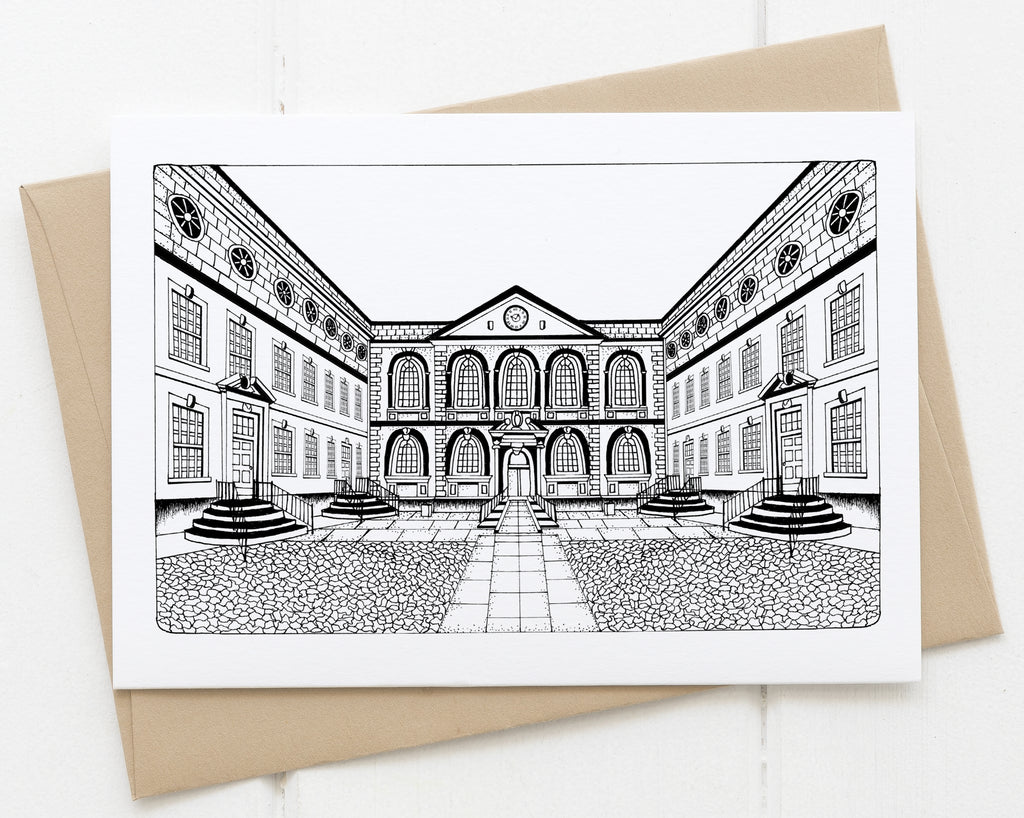 The Bluecoat greetings card