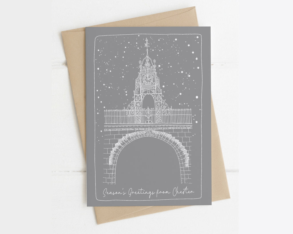 Chester Clock Christmas Card
