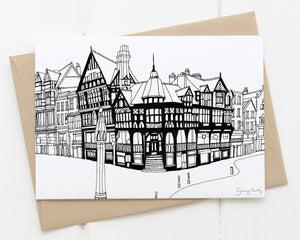 Chester rows greetings card