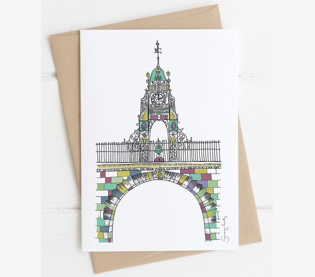 Chester Eastgate Clock greetings card