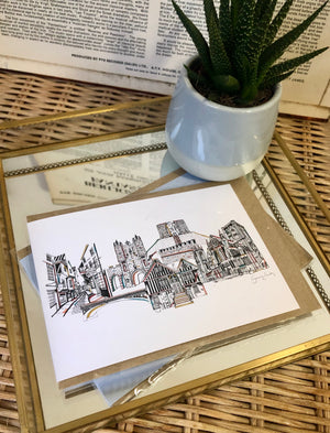 York landmarks white card