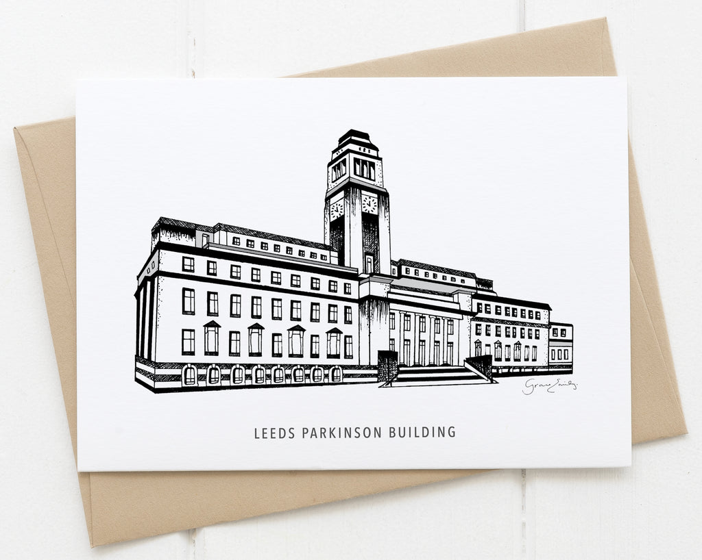 Leeds Uni Parkinson Building card
