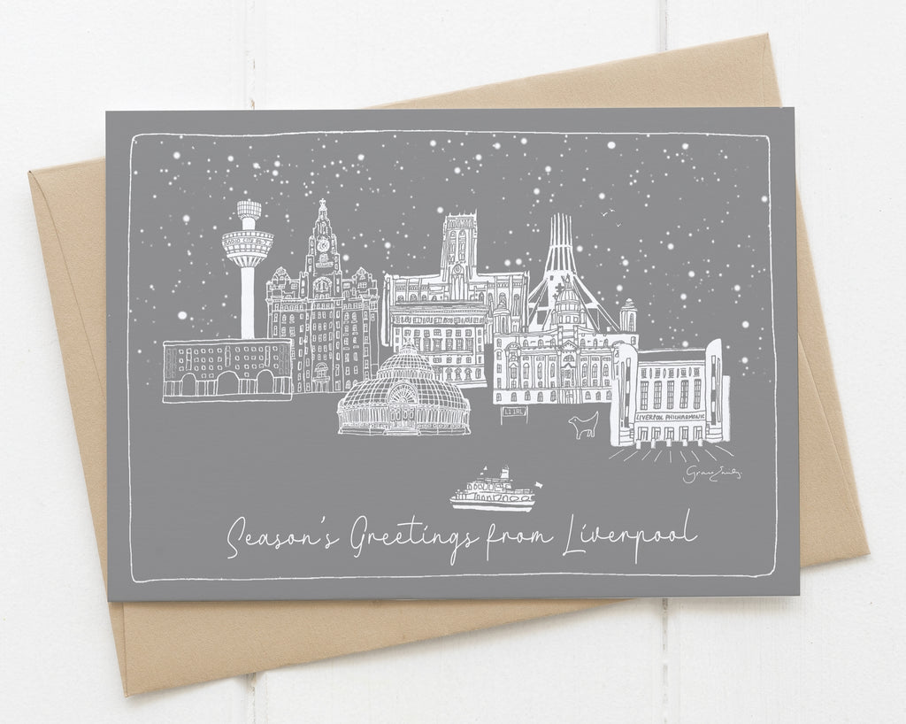 Liverpool Landmarks Christmas Card