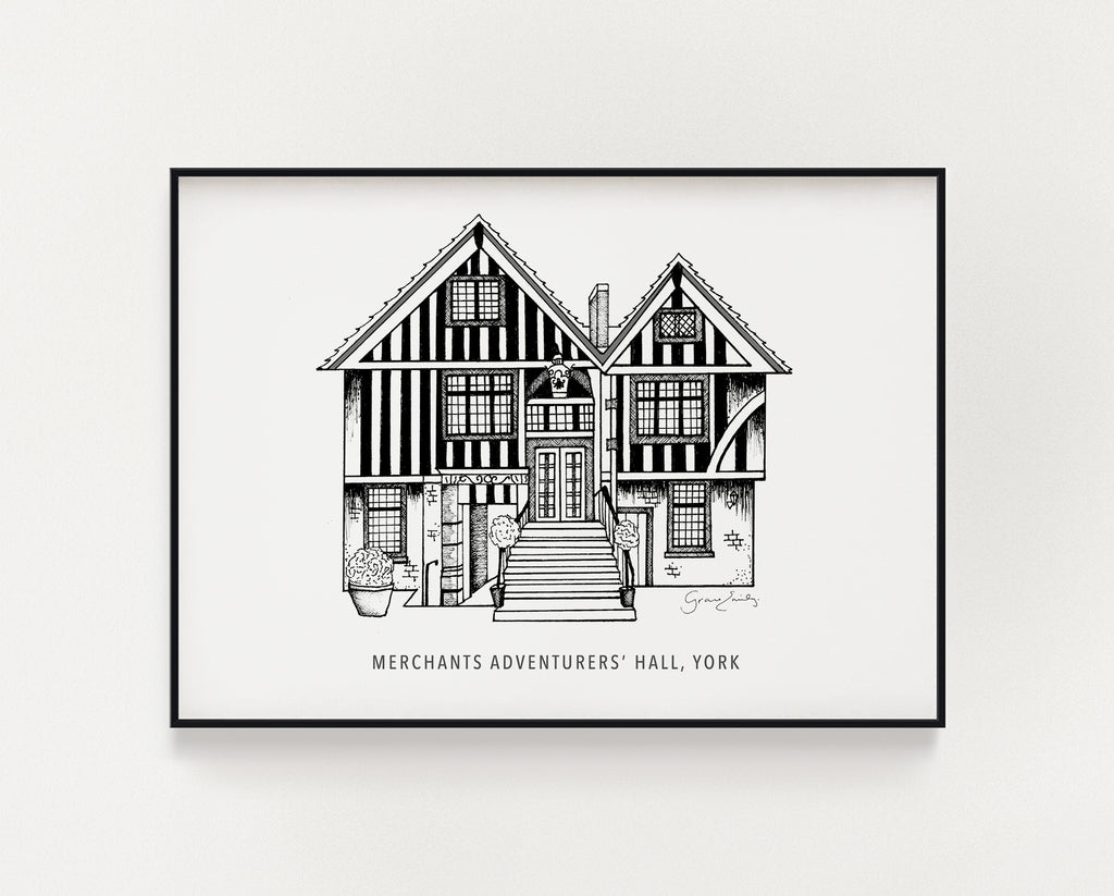 York Merchants Adventurers Hall print