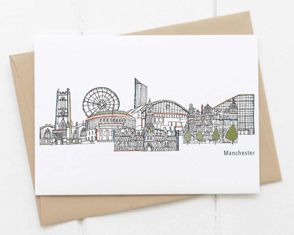 Manchester card white