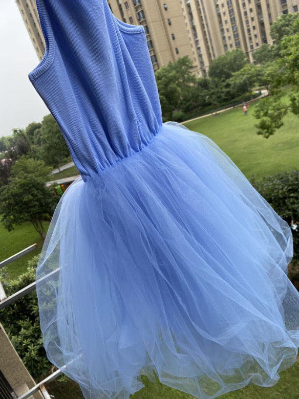 B-Girl Dress in Sky Blue, Gray or Black
