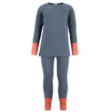 Load image into Gallery viewer, Color Block Pajamas in Gray, Purple & Navy