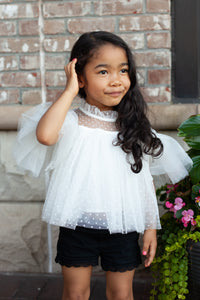 Simone Lace Top in White & Black and Mommy Version Too!