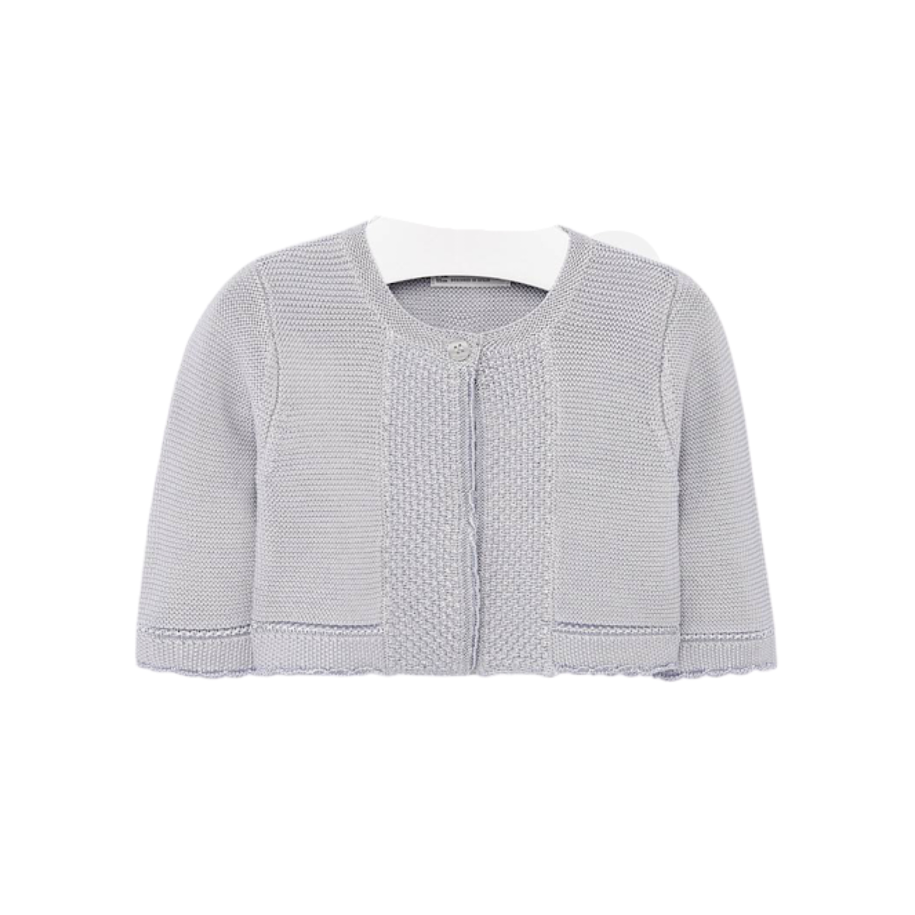 Mayoral silver knit baby girl cardigan