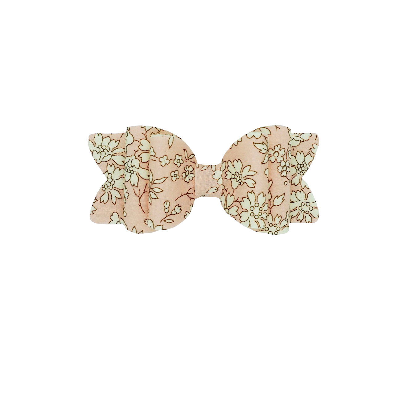 Pastel Pink Liberty Floral Bow