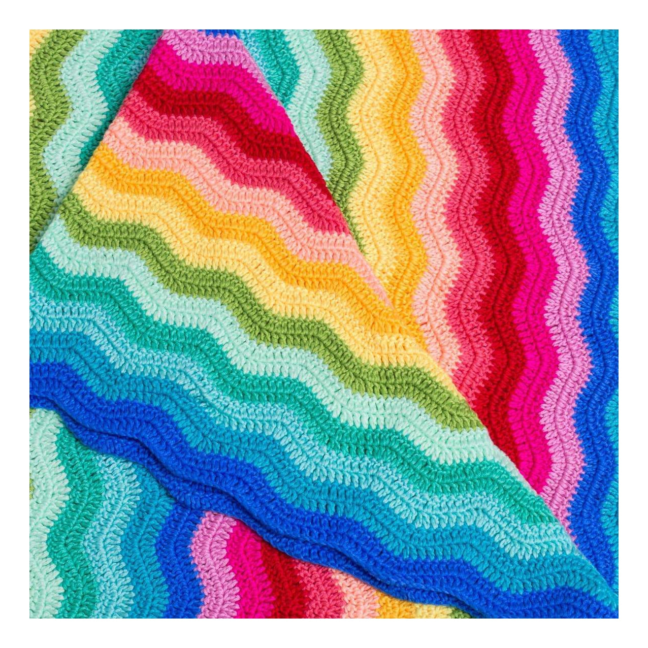 Artisan Rainbow Ripple Blanket