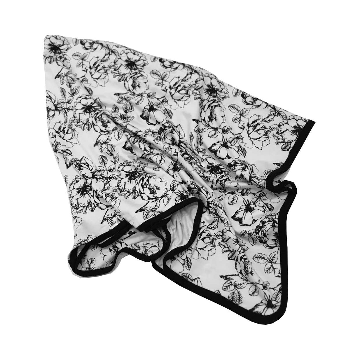 Black Floral Bamboo Swaddle