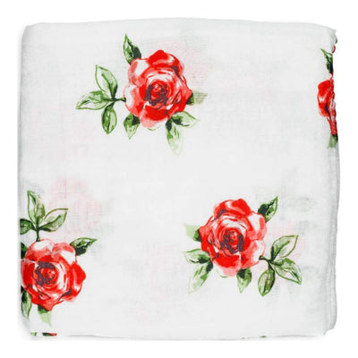 Red Rose Swaddle Blanket