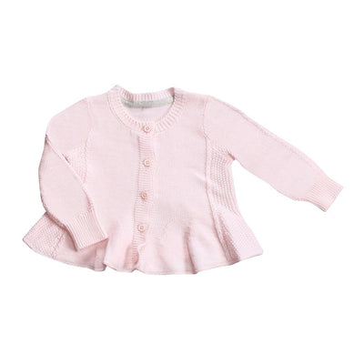 Angel Dear Pink Knit Seed Cardigan Sweater Baby Girl Tadpoles & Tiddlers Cleveland Bath Akron Ohio