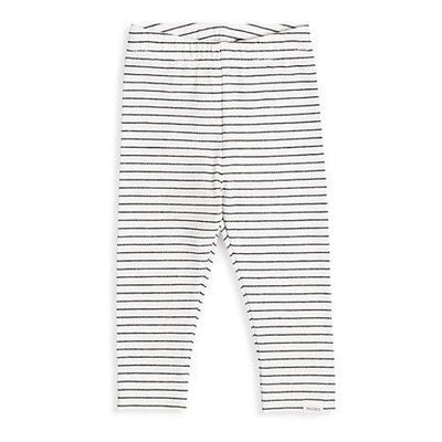 Street Games White + Black Stripe Legging