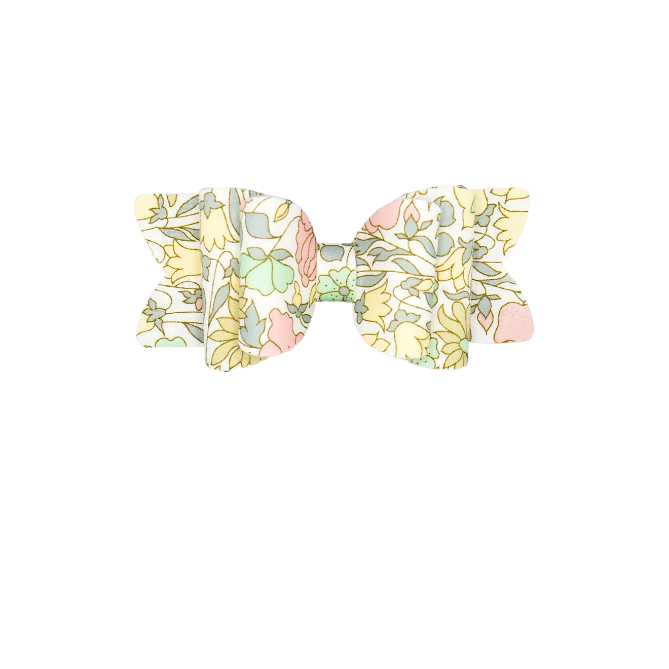 Yellow Liberty Floral Bow