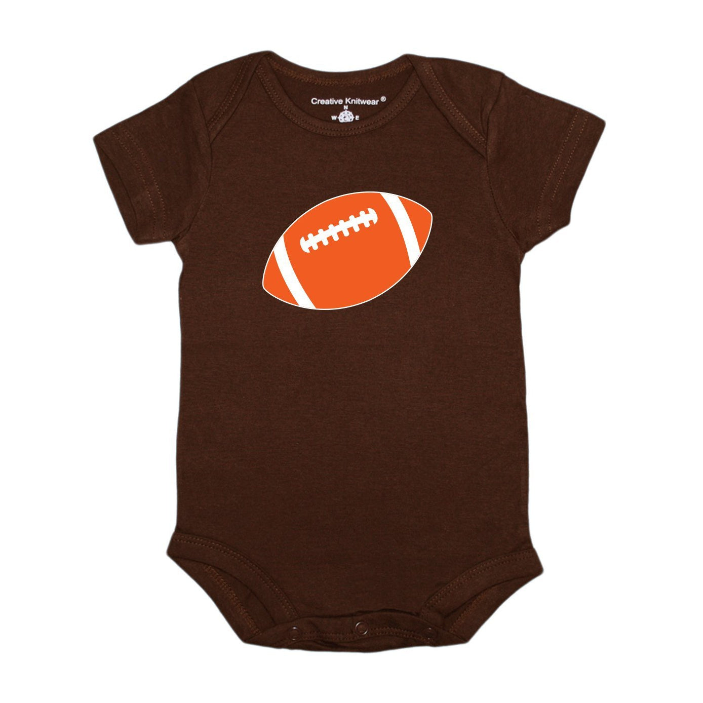 Short Sleeve Onesie - CLE Browns - Brown