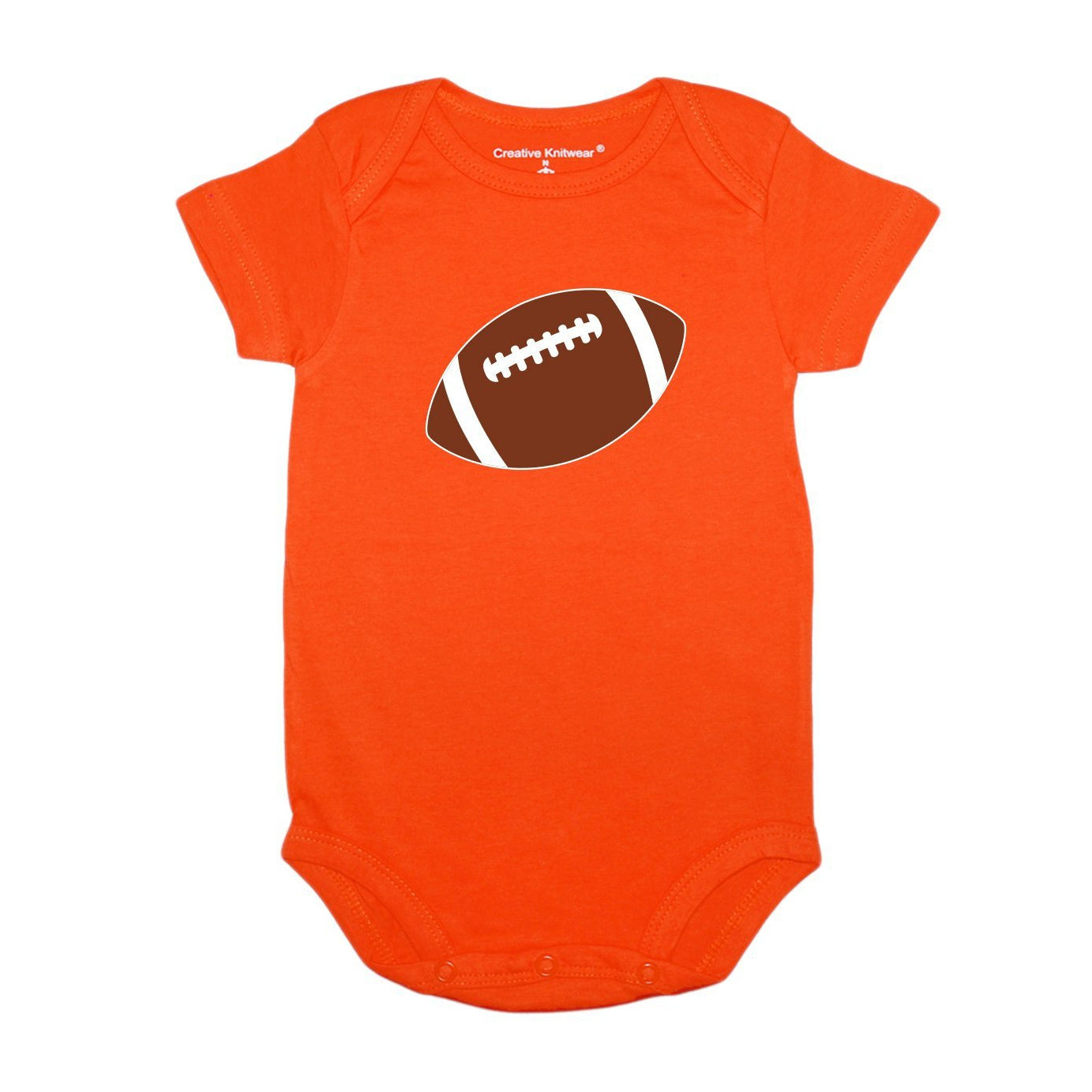 Cleveland Browns Football Orange Brown Short Sleeve Onesie Baby Tadpoles & Tiddlers Cleveland Bath Akron Ohio
