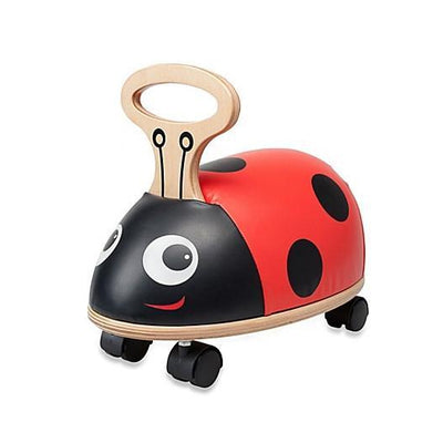 Kids Preferred Ladybug Ride n Roll Wooden Scooter Toy Baby Toddler Tadpoles & Tiddlers