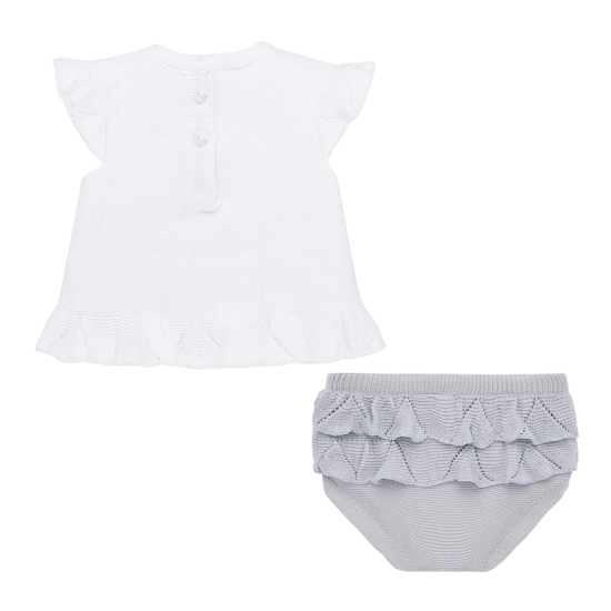 Silver Knit Shirt and Knickers Set