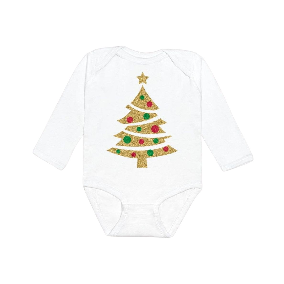 Christmas Tree Long Sleeve Bodysuit