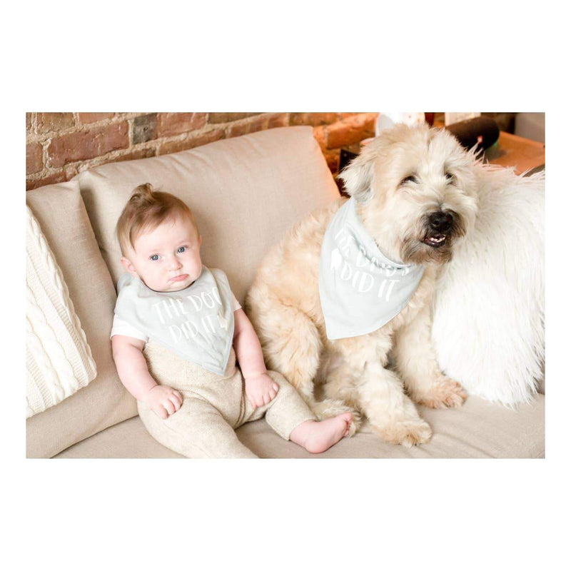 The Dog Did It Baby and Pet Bib Set