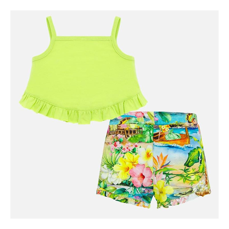 Ruffled Tropics 2-Piece Short Set
