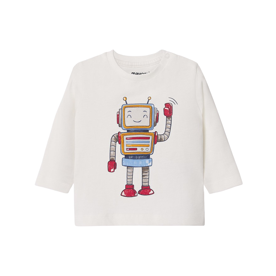Robot Graphic Tee Shirt