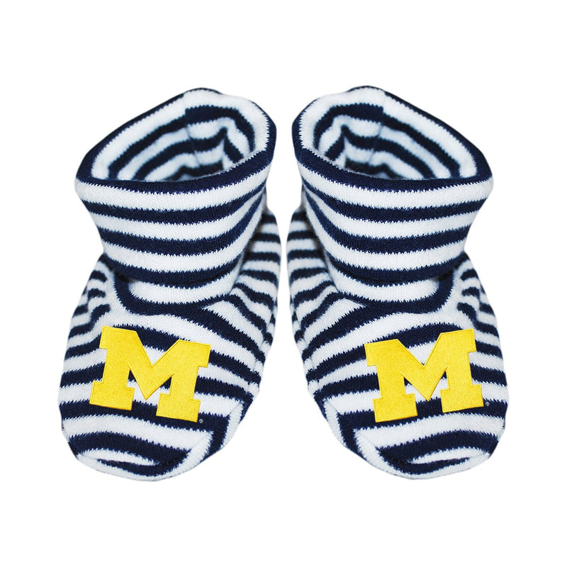 University of Michigan Striped Booties