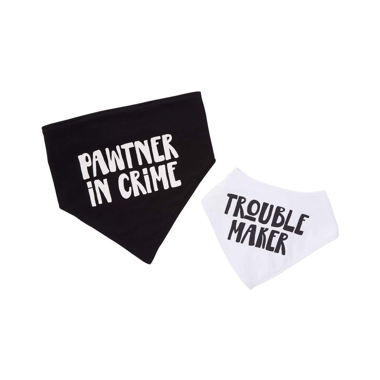 Trouble Maker Baby and Pet Bib Set