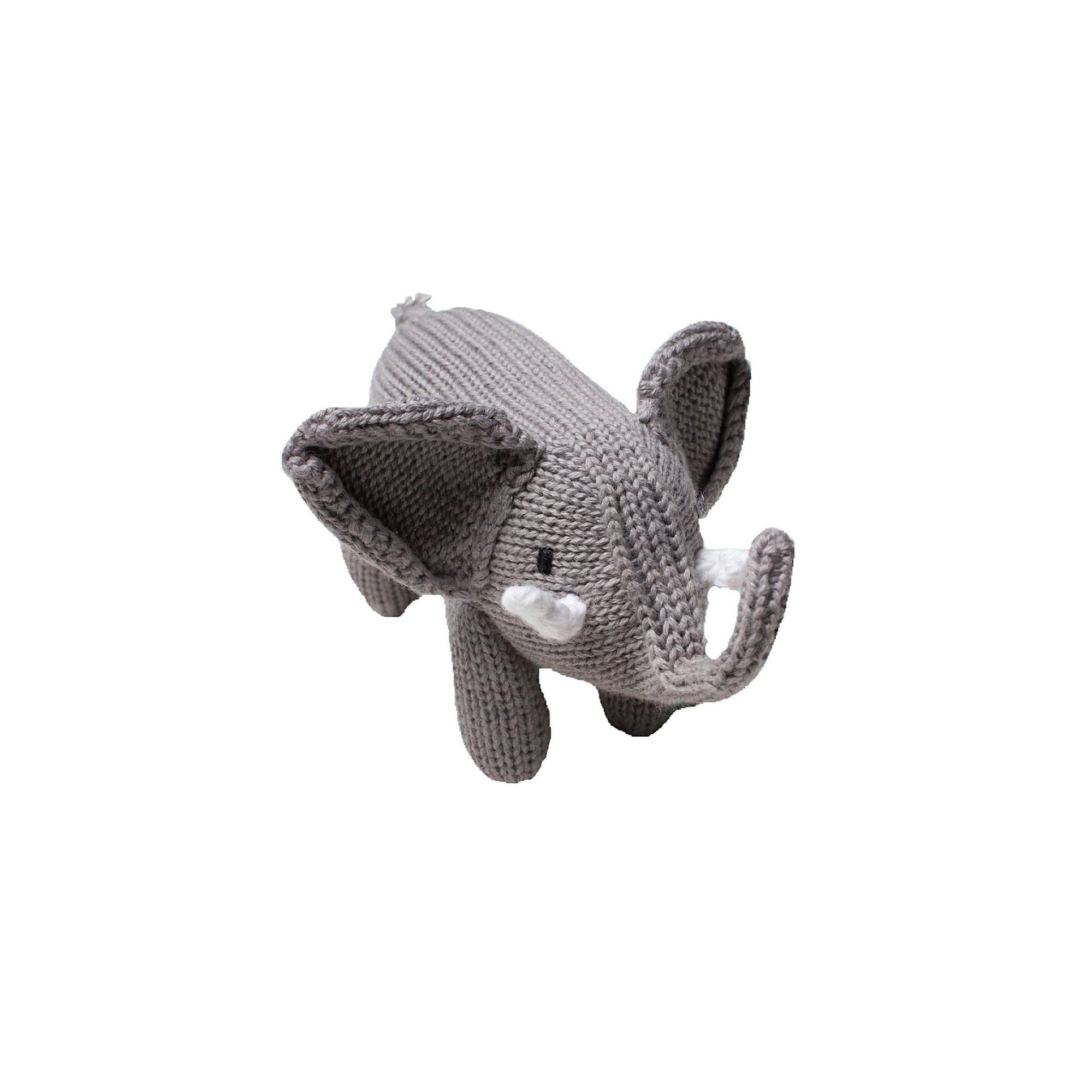Organic Elephant Knit Rattle