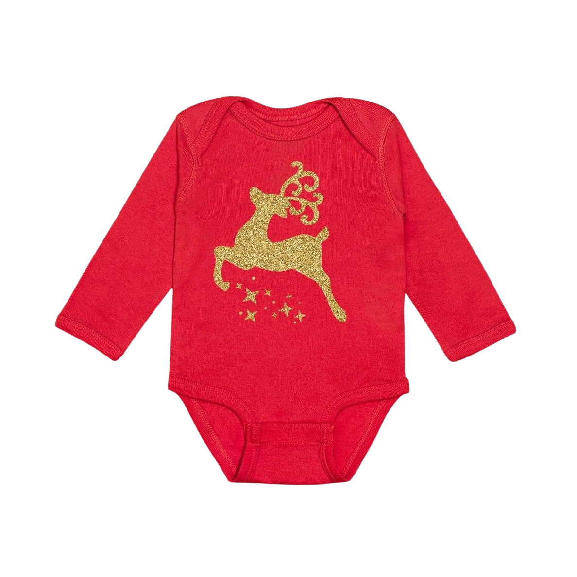 Christmas Reindeer Long Sleeve Bodysuit