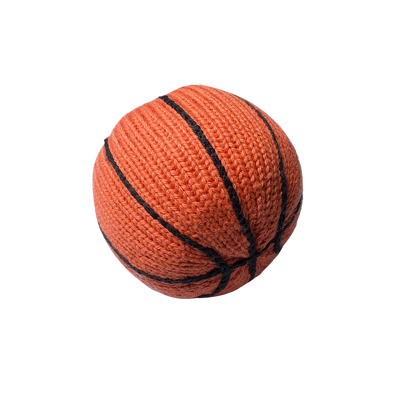 Organic Knit Basketball Rattle