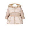 Mayoral Satin beige baby girl puffer coat