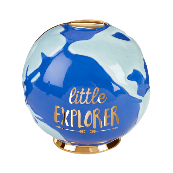 Porcelain Little Explorer Globe Bank